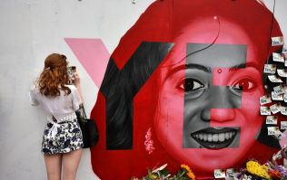 Savita mural temporarily removed so messages can be preserved