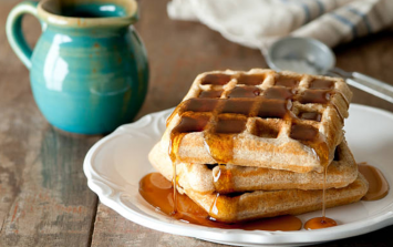 These coffee-flavoured Belgian waffles serves up the perfect morning boost