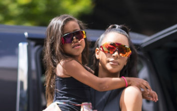 Kim Kardashian is under fire for straightening five-year-old North's hair
