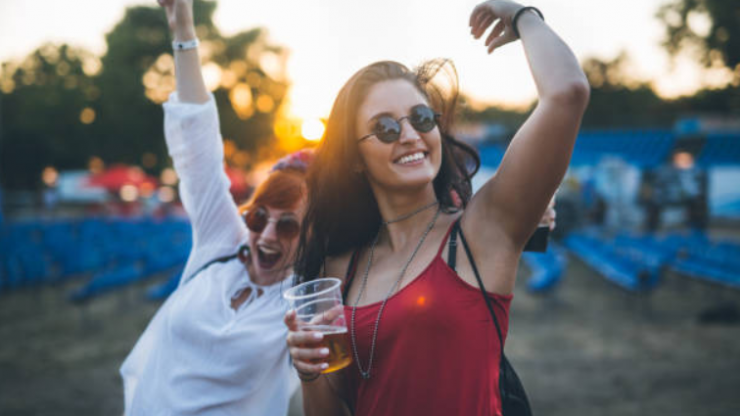 This bra has a secret container so you can smuggle booze into a festival