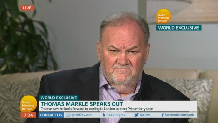 Meghan Markle's dad explains why he staged paparazzi pics of himself before his daughter's wedding