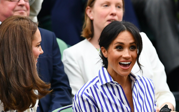 Meghan Markle had Kate in a fit of laughter at Wimbledon today and the pics are very cute