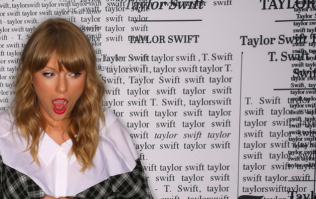 Taylor Swift was the 'third wheel' in a fan's marriage proposal and the photos are hilarious