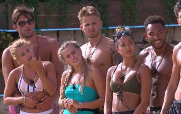 Twitter was howling at this random man in the pool on Love Island last night