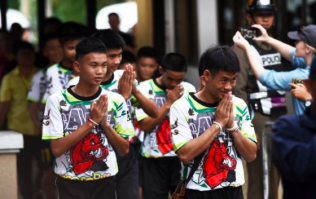 Thai boys give first interview since been rescued from the flooded cave