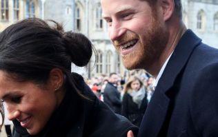 Meghan wears green as the Duke and Duchess arrive in Dublin