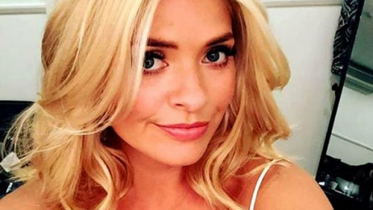 Holly Willoughby wore the most glorious green midi dress this morning