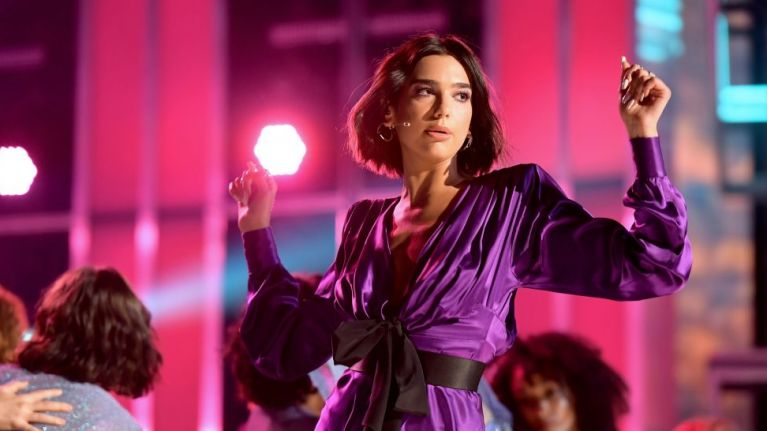 Dua Lipa's subtitles got messed up during a performance and it was gas