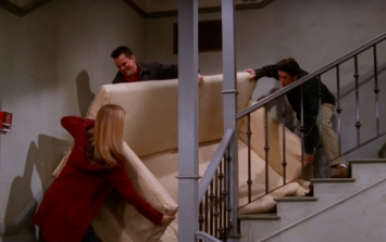 A mathematician has solved the 'PIVOT!' scene from Friends