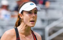 Alize Cornet given code violation at US Open for changing her top mid-game