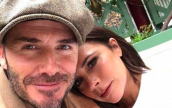David and Victoria Beckham share intimate kiss in rare snap on holidays