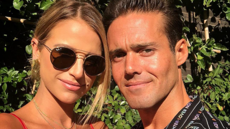 """Vogue Williams jokes about how Spencer spends a lot of time """"in the dog house"""""""
