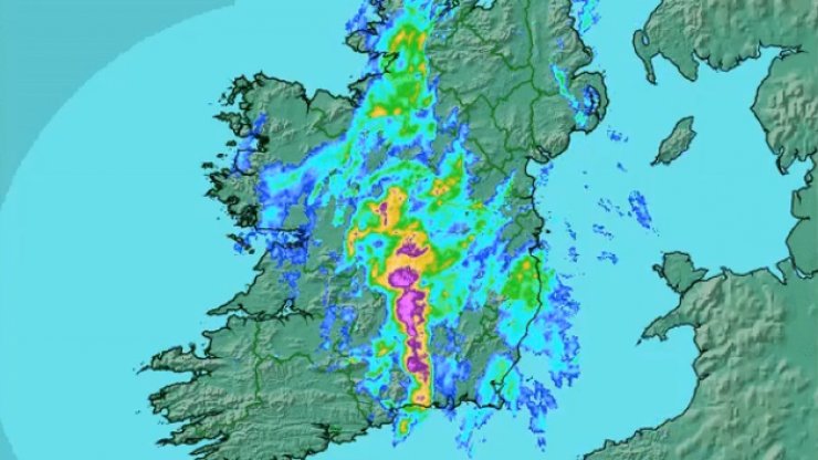 Met Éireann has issued an Orange weather warning for 13 counties
