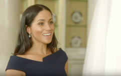 Cute! We have a clip of Meghan Markle reacting to her wedding dress