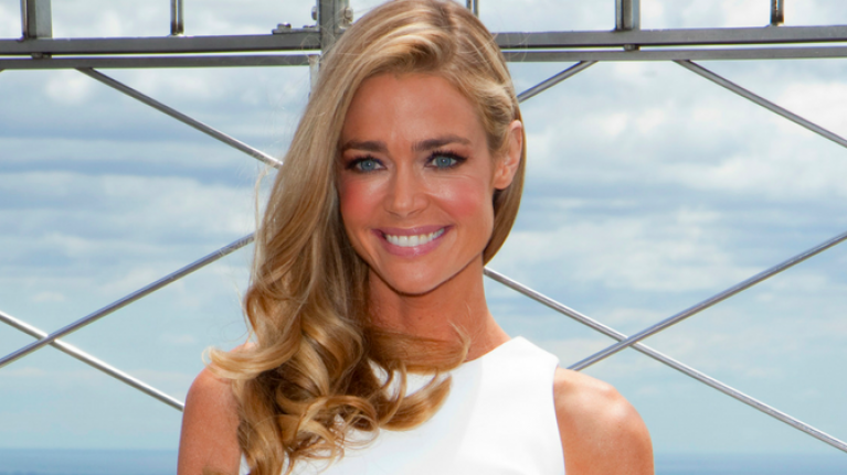 'Nightmare!': Denise Richards' wedding dress has caused a SERIOUS debate online