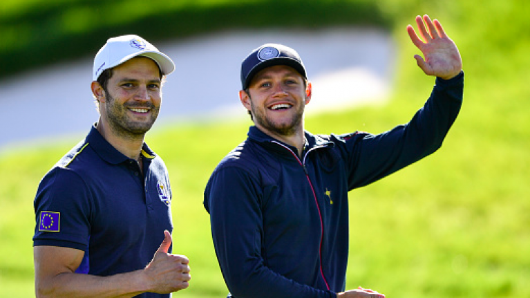 10 images of Jamie Dornan and Niall Horan playing golf because we REALLY love the sport