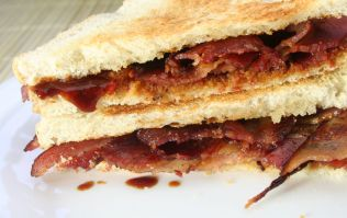 Feeling hungover? This 8 minute garlic bacon toastie is what you NEED