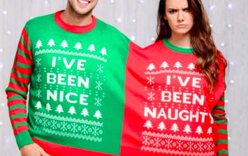 Two-person Christmas jumpers have arrived, and they're absolutely hilarious