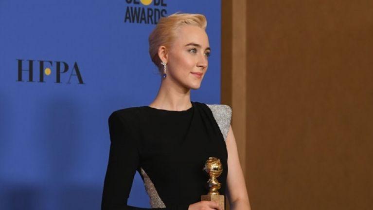 Saoirse Ronan wins Best Actress award at the Golden Globes