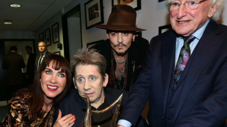 Bono and Johnny Depp looked like they had the craic at Shane McGowan's 60th