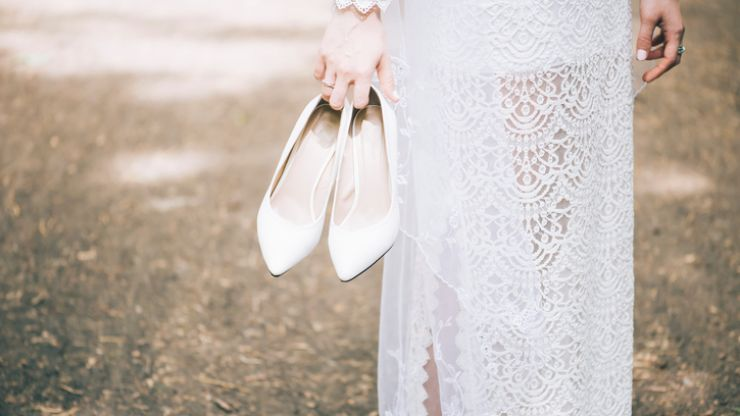 This dramatic 2018 bridal accessory trend is one we're definitely on board with