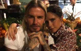 Victoria and David post romantic pic... but nobody could get over the background
