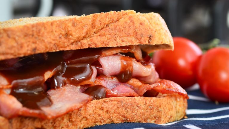 Er, we might have to disagree with the 'most perfect rasher sandwich'