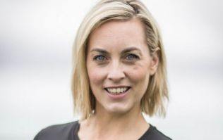 Kathryn Thomas shares adorable footage of her dog-assisted workout