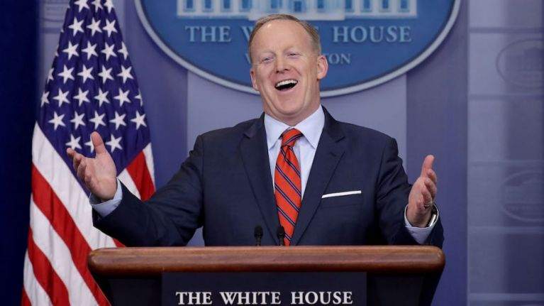 Sean Spicer was drinking pints in this popular pub last night