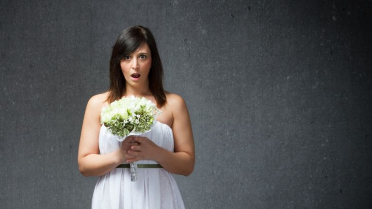 The 'naked wedding dress' is a thing now and we can't be dealing