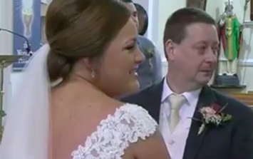 An Irish dad gave his daughter the sweetest surprise at her wedding
