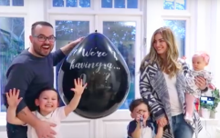 Anna and Jonathan Saccone-Joly share adorable gender reveal video