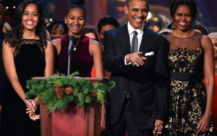 Michelle Obama has shared a family photo for Thanksgiving, and we hardly recognise Malia and Sasha