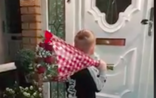 This video of a little Irish boy delivering flowers is very sweet