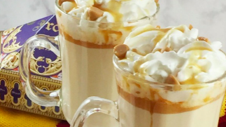 Butterbeer hot chocolate is now a thing and we might as well be in Hogwarts