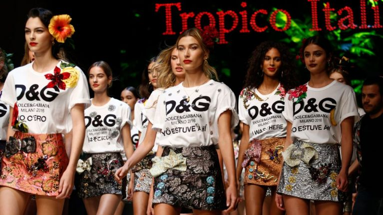 new products 40aaa 7dd82 Dolce & Gabbana swapped models for drones on their runway ...