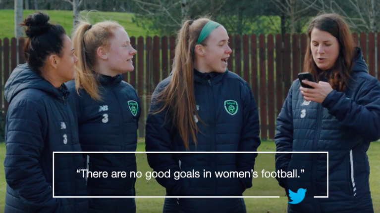 Ireland's women's soccer team read mean tweets and are having none of it