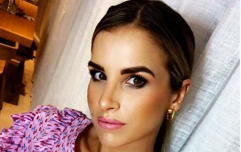 Vogue Williams has been hospitalised after falling off a horse in training