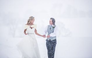 This couple got married in the snow during Storm Emma and it was beautiful