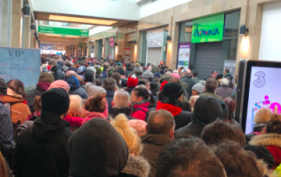 The queues getting into Dunnes in Dublin today were absolutely outrageous