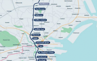 The route for Dublin's underground tram has just been revealed