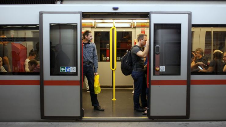 This man (purposely) got his penis stuck in a train door and we're asking 'WTF?'
