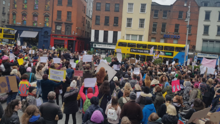 All the tweets, pictures and videos from the #IBelieveHer nationwide protests