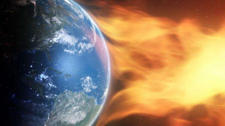 So apparently Earth will be hit by two solar storms this week, and that can't be good