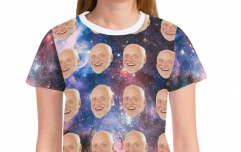 You can now get a t-shirt with your BFF's face floating on it, and please take our money