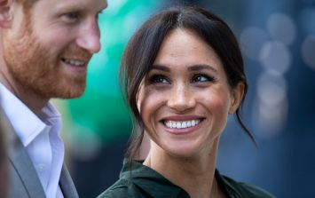 Meghan and Harry shared a sweet moment with furry friends on today's royal outing
