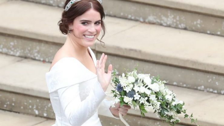 Princess Eugenie's third wedding dress is a total break from royal tradition