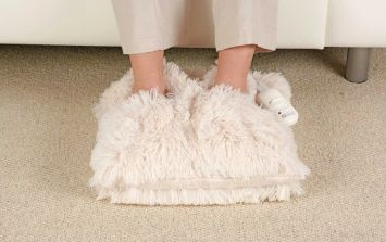 This electric foot warmer is going to be your best friend during the winter months