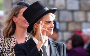 Cara Delevingne BROKE the dress code by wearing this to Princess Eugenie's wedding