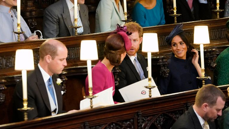 Kate and Wills cause a stir with a rare PDA at Princess Eugenie's wedding